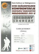 Dyplom Laureata dla Formacji GAMA Juniorzy